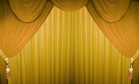 Colorful curtain of a classical theater  photo