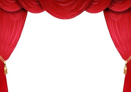 curtain theater: Cortina rojo de un teatro cl�sico