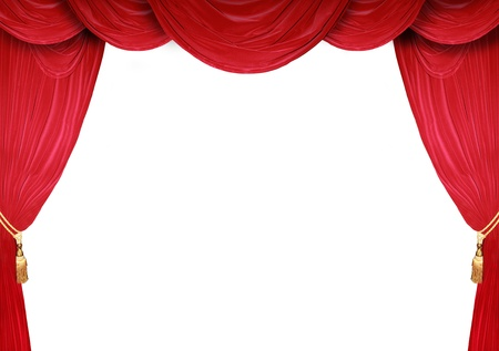 theater curtain: Red curtain of a classical theater