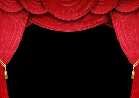 Red curtain of a classical theater  Stock Photo - 9220279