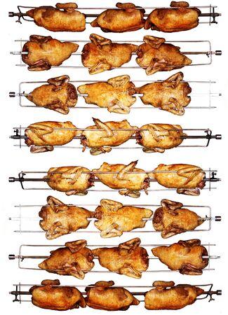 pollo rostizado: Pollo asado delicioso encender un asador
