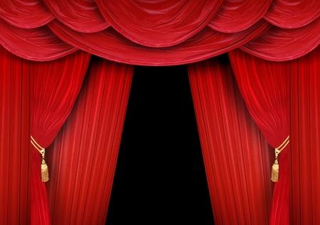 Cortina rojo de un teatro clásico