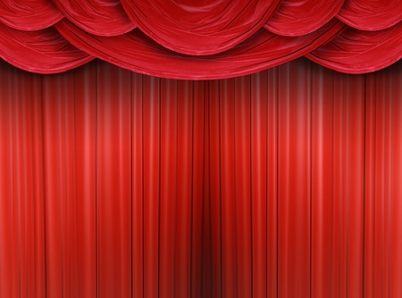 cortinas rojas: Cortina rojo de un teatro cl�sico