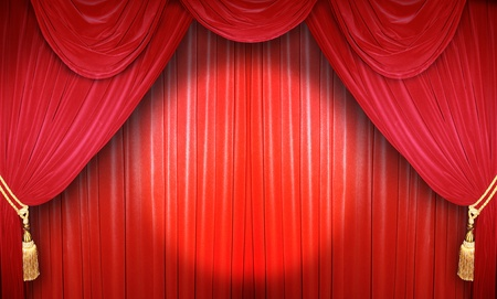 theaters: Red curtain of a classical theater