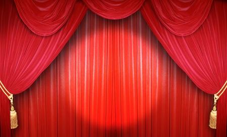 sipario chiuso: Tenda rossa di un teatro classico