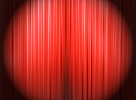 Red curtain of a classical theater  Stock Photo - 9364600
