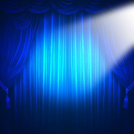 spotlight background: curtain of a classical theater