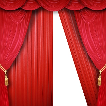 curtain of a classical theater  photo