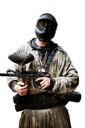 A dangerous man with a gun in his hand  Standard-Bild