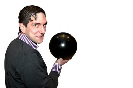 optionnel: Joueurs de bowling sur le fond blanc en option