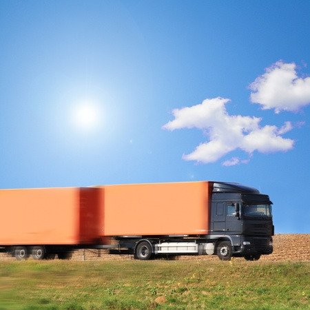 truck on the road of Germany Stock Photo - 12576983
