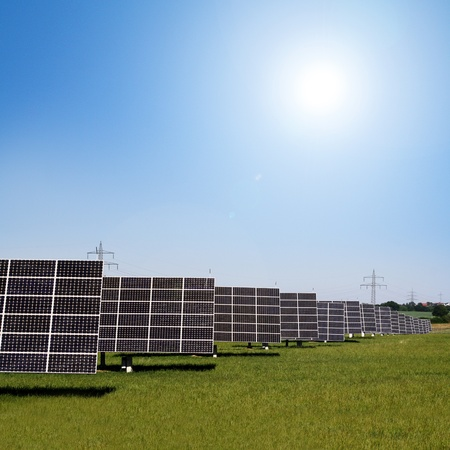 solar panels to generate electricity photo