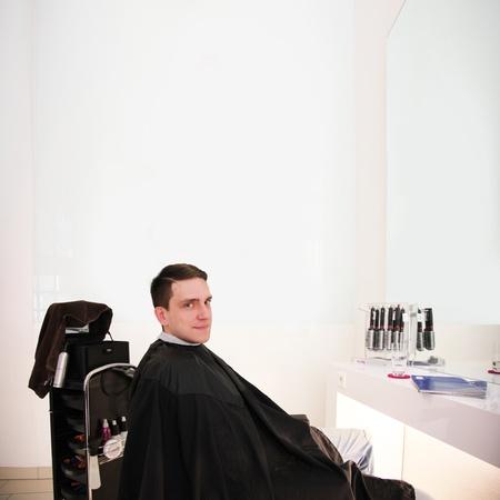 modern hairdressing salon for hair cut photo
