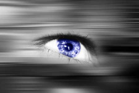 vision future: Digitale oog in een toekomstvisie Stockfoto