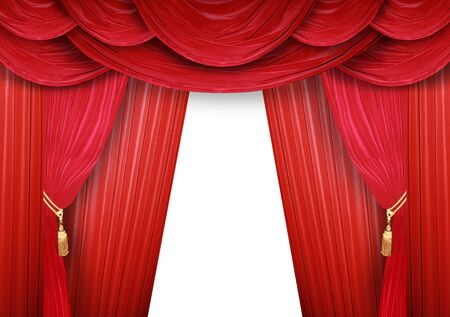 Red curtain of a classical theater  photo