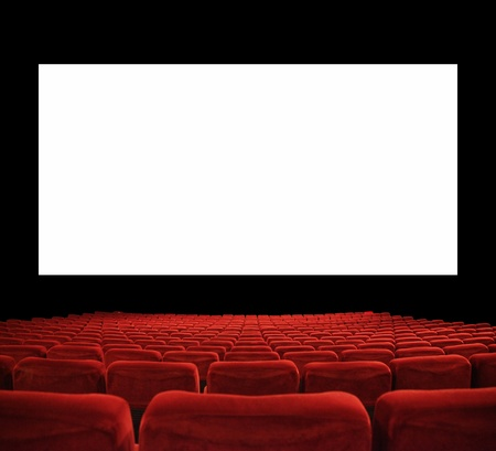 funny movies: classic cinema with red seats