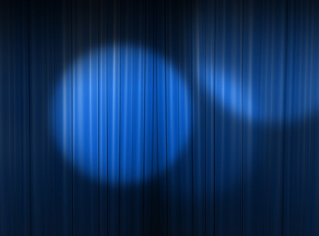 blue curtain of a classical theater  photo