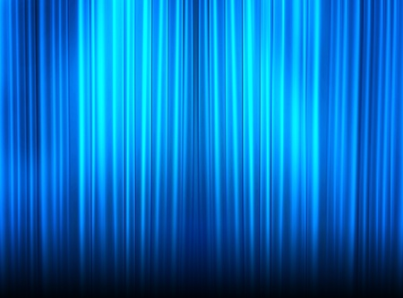 blue curtain of a classical theater