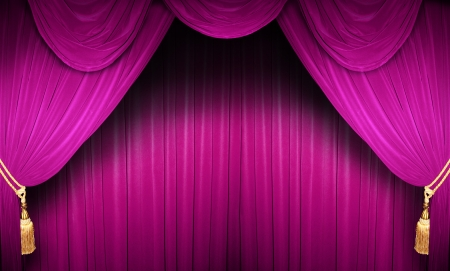 velvet background: curtain of a classical theater