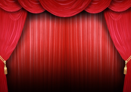 Red curtain of a classical theater Stock Photo - 12586148