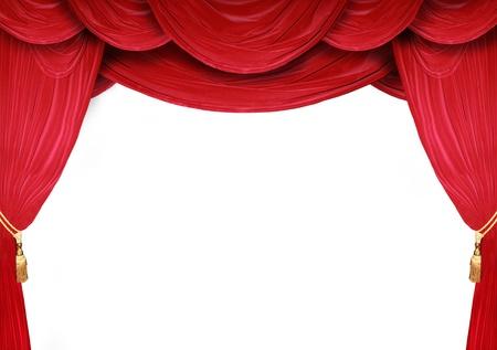 telon de teatro: Cortina roja de un teatro cl�sico