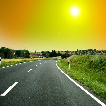 nice long and wide roads for car drivers