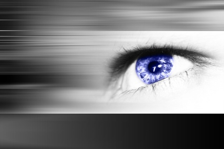Digital eye in a future vision  Stock Photo