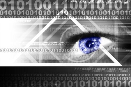 Digital eye in a future vision  Standard-Bild