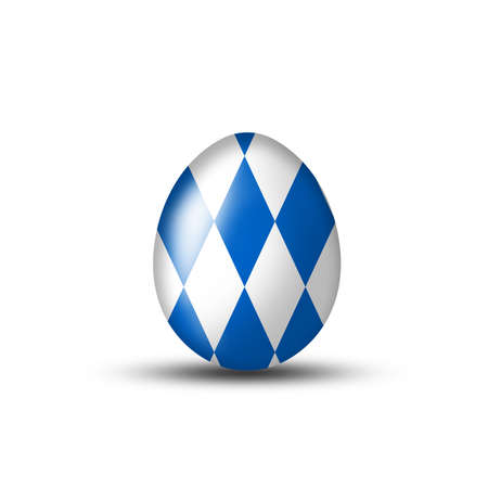 beerglass: Easter eggs with Bavarian flag on a white background