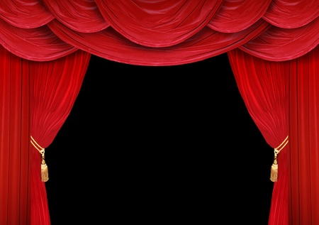 theater background: Red curtain of a classical theater