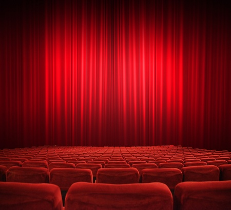 classic cinema with red seats Stock Photo - 13069799