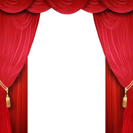 curtain theatre: Red curtain of a classical theater
