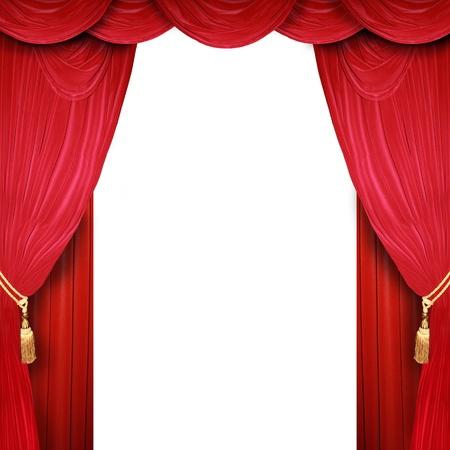 broadway show: Sipario rosso di un teatro classico Archivio Fotografico