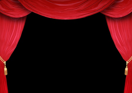 drama: Red curtain of a classical theater