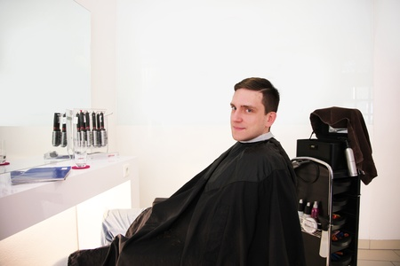 modern hairdressing salon for hair cut photo