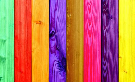 beautiful colored wooden boards in a row Stock Photo - 14005847