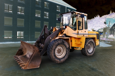 large bulldozer at the construction site in germany Stock Photo - 14005844