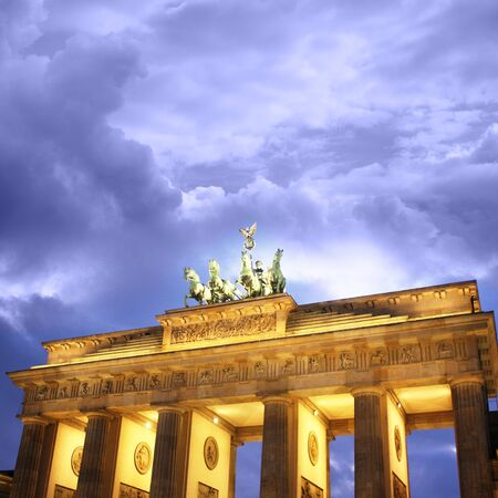 east gate: Brandenburg gate of one of the many attractions berlin Stock Photo