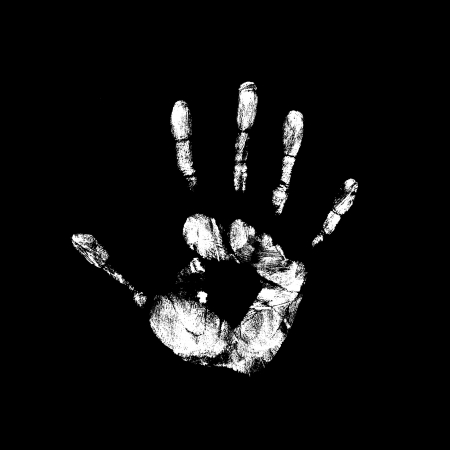new unknown handprint on the mystery background