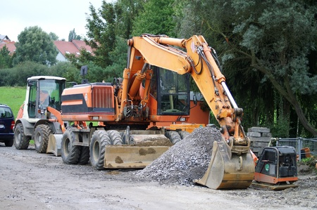 large excavator at the construction site in germany Stock Photo - 14005966