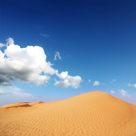 arid climate: beautiful day in the dunes of Africa Stock Photo