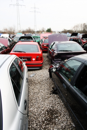 scrap yard for car recycling Stock Photo - 14094778