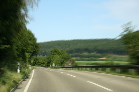 nice long and wide roads for car drivers photo