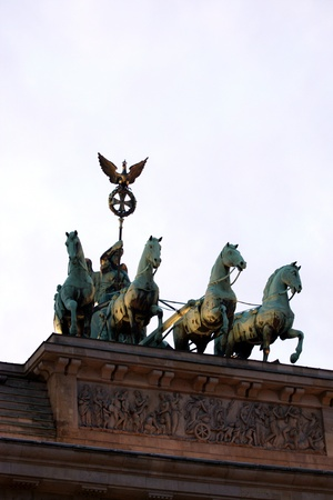 Brandenburg gate of one of the many attractions berlin photo