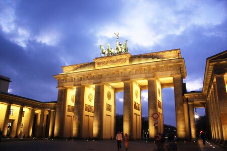 west gate: Brandenburg gate of one of the many attractions berlin Stock Photo