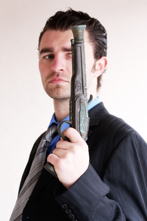 Businessman takes to gun to protect his business photo