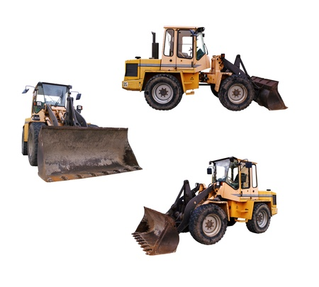 wheel loader: large bulldozer at the construction site in germany Stock Photo
