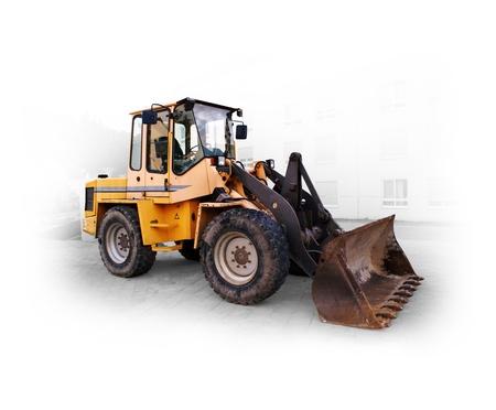 maquinaria pesada: gran excavadora en el sitio de la construcción en Alemania