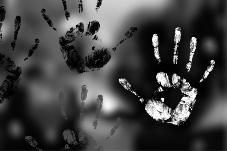 new unknown handprint on the mystery background Stock Photo - 14320002