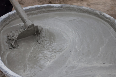 cement mixing Stock Photo